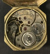 Antique 1924 Mans Bulova 17 jewel movement and partial case parts/restore - $47.50