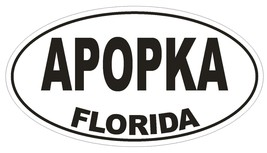 Apopka Florida Oval Bumper Sticker or Helmet Sticker D1308 Euro Oval  - $1.39+