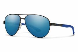 Smith Optics Men's Women's Salute Aviator Sunglasses Matte Black, Blue M... - $99.99