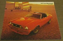 1977 Ford Mustang II Brochure - $4.25