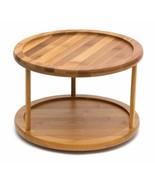 "Lipper International 8302 Bamboo Wood 2-Tier 10"" Kitchen Turntable - $21.49"