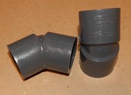 "1"" Gray PVC Schedule 80 Spears 45 Degree Elbows SlipXSlip 2ea D2467 NSF ... - $7.49"