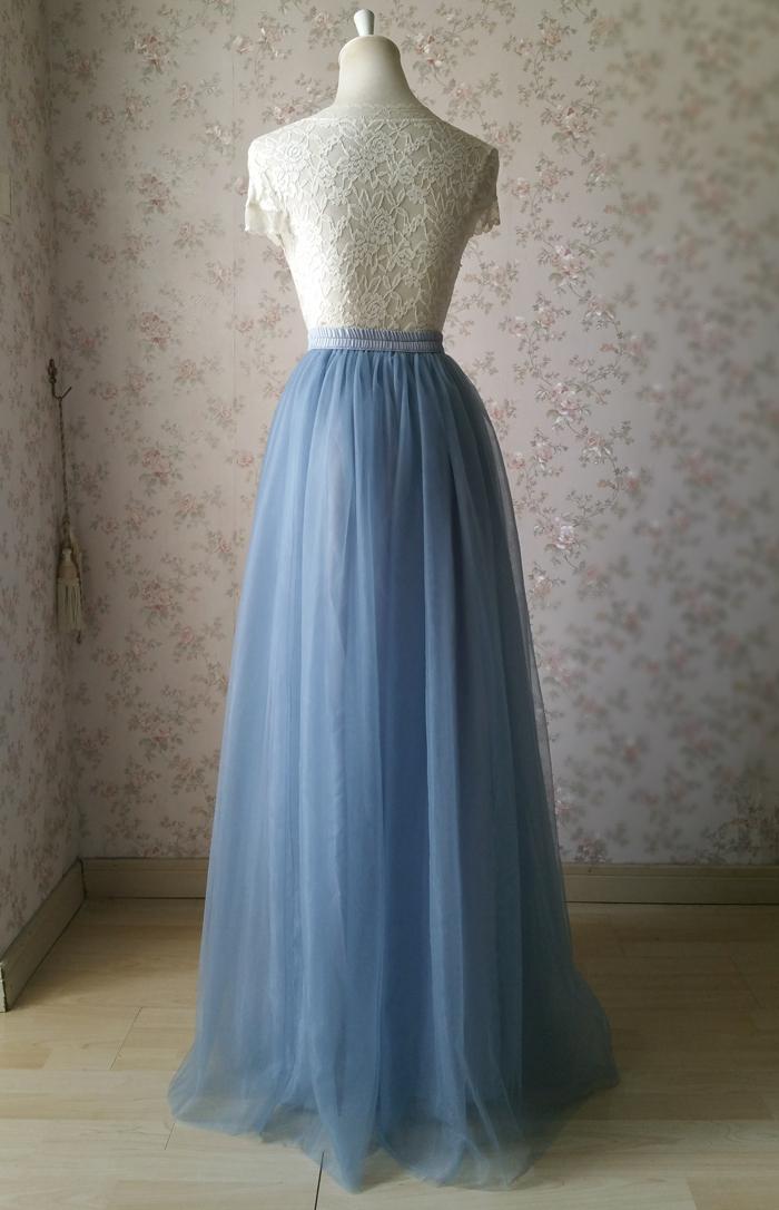 Dusty blue tulle skirt wedding 05