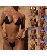 ITCQUALITY MICRO BIKINI SET SEXY THONG SWIMSUIT PUSH-UP BRAZILIAN ITC1379. - $32.00