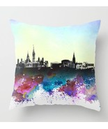 Throw Pillow Case Cushion cover Made in USA Design 106 City Skyline L.Dumas - $29.99+