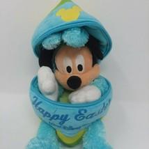 Walt Disney World Mickey Mouse Easter Bunny Zipper Egg 2006 Plush NWT RARE - $20.35