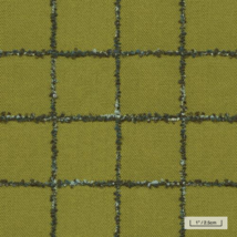 BTY Knoll Upholstery Fabric Catwalk Jet Set Green Windowpane Wool K21564 FO - $27.36