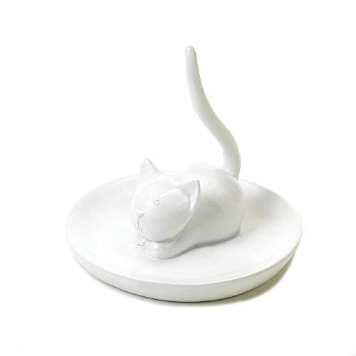 Accent Plus Engagement Ring Holder, Charming Cat Trinket Tray Jewelry Ring Holde
