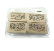 New Stampin' Up! Sculpted Style 4 Piece Wooden Stamps Architecture Art 2004 - $16.82