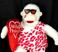 Valentines Day Plush Gorilla with Heart Pillow Sings Wild Thing Dan Dee ... - $18.37