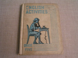 English Activites Grade Five - 1936 Illustrated Elementary School Textbo... - $8.59