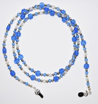 Blue Flower and Crystal Eyeglass Chain - $22.88