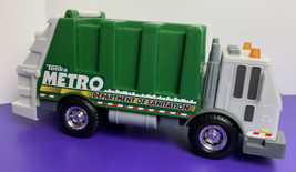 Tonka Metro Dept. of Sanitation Plastic Garbage Truck 2013 Green Gray - $9.89