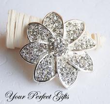 Rhinestone Crystal Brooch Pin Wedding Cake Decoration - $24.00