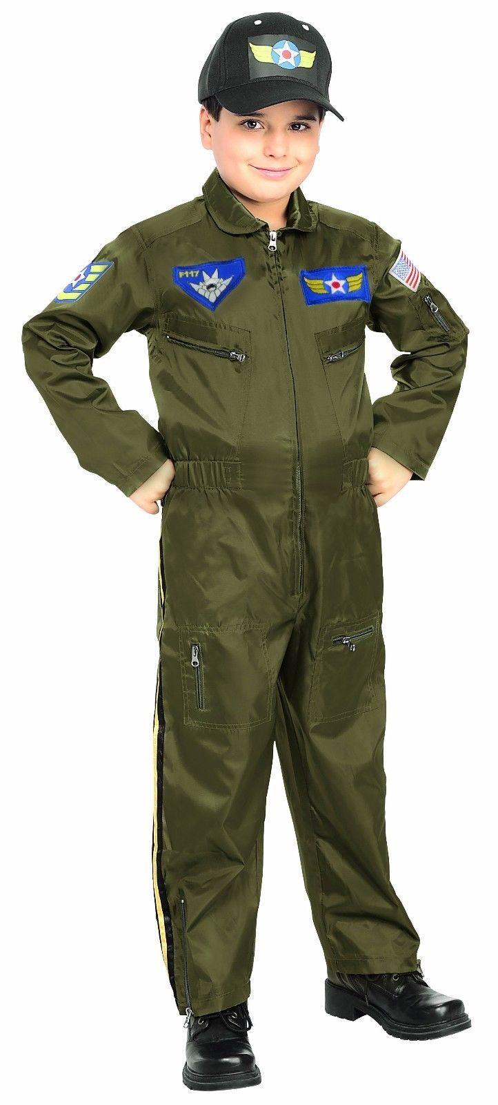 Rubies Air Force Fighter Pilot USA Boys Children Halloween Costume 882701