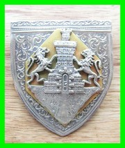 Antique Sterling Silver .900 Stamped And Signed AIMARA Crest Shield Brooch Pin - $48.49