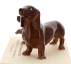 Hagen-Renaker Miniature Ceramic Dog Figurine Dachshund Standard Mama and Pup image 3