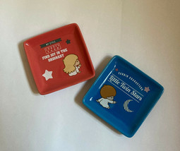 HK 7-11 x Lowrys Farm SANRIO Little Twin Stars Ceramic Dishes Plates 2 p... - $25.99