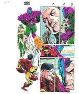 Original Avengers Iron Man Kang 8 1/2 x 11 Marvel Comics color guide art... - $59.39