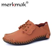 Leather Men Men Designer Casual Shoe Shoes Shoes Fashion Merkmak Autumn For 2018 5Twzw