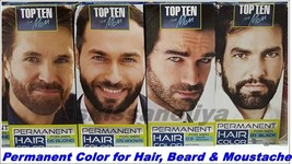 TOP Ten for Men Permanent Hair Beard and Moustache With Vit C Color for Men - $8.00