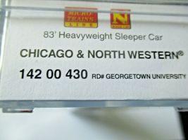 Micro-Trains # 14200430 Chicago & Northwestern 83' Heavyweight Sleeper Car (N) image 6