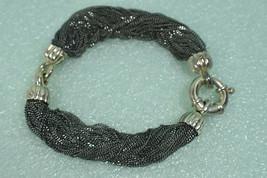 Vintage Tiffany &Co Vintage Multi-Strand Chain Oxidized Sterling Silver ... - $387.03
