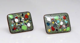 Enamel On Copper Screwback Earrings - €12,34 EUR