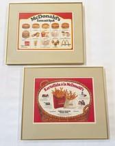 Vintage GERMANY MCDONALD'S advertising Menu Promotional frame art burger... - $134.96