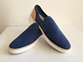 Ugg Adley Perf Marino Blue Slip On Leather Sneakers Us 9 / Eu 40 / Uk 7.5 Nib - $55.17