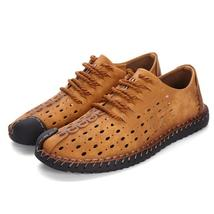 On Loafers Casual Beach Shoes Slip Summer Leather Design Men Sneakers Breathable Pwq8Ff