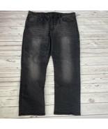 Buffalo David Bitton Mens Jeans Black Six Straight Stretch Size W40 x L3... - $74.20