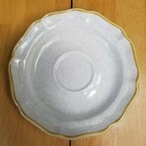 Mikasa Country Club Tomorrow's Dream Saucer White Speckled Tan Trim - $2.96