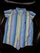 Ralph Lauren Striped Summer Romper Size 3 Months Boy's EUC - $16.00
