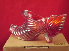 Carnival glass cathead slipper by Fenton - $30.00