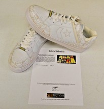 Converse Weapon White Basketball sz 14 DWAYNE WADE Personal Owned Shoes COA #11 - $148.49