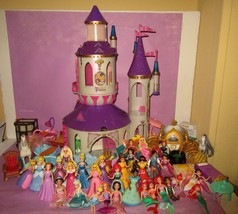 HUGE Fashion Magiclip Little Kingdom Disney Princess Castle Furniture Lot! - $220.00