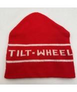Tilt-Wheel Company Logo Red And White Vintage Beanie Ski Cap Hat Tilt Wheel 1905 - $15.15