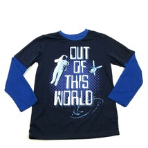 Highland Out Of This World Shirt Youth Size 14 Blue Waffle Long Sleeve S... - $12.63