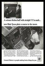 General Motors Engineer Computers Space Occupational 1967 Vintage GM Photo AD - $10.99