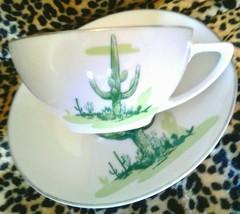 Arizona Cactus Collection Saguaro Cup and Saucer, Blakely Fine China, Mi... - $21.50