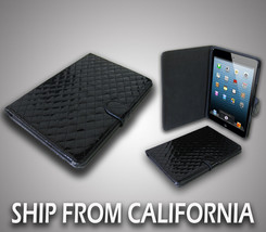 "*Fits Perfect* Apple iPad Mini 7.9"" Faux Leather Finish Folding Case Black - $6.92"