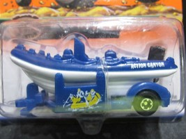 ( B) BLUE/WHITE WATER RAFT/BOAT WILDERNESS ADVETURE MATCHBOX 1/64 CAR - $2.60