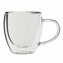 Bistro Mug with Handle from JavaFly, Double Walled Thermo Glass Cup, Set... - $26.38