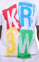 KR3W Krew Cali Mens Ransom Stencil Logo Print Regular White T-Shirt K52677 NWT image 2