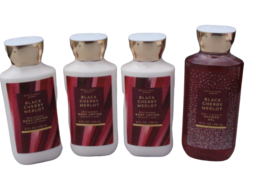 (Set of 4) Bath & Body Works Black Cherry Merlot Body Lotion Shower Gel,... - $36.89