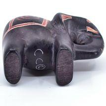 Crafts Caravan Hand Carved Black Brown Soapstone Elephant Figurine Made in Kenya image 5