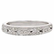 0.26ct Diamond 14k White Gold Ring SI1-SI2, G-H - £251.55 GBP