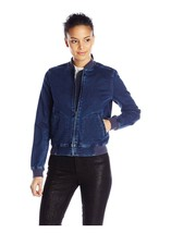 NWT Calvin Klein Knit Indigo Bomber Jacket, Size Medium, $178 - $83.86