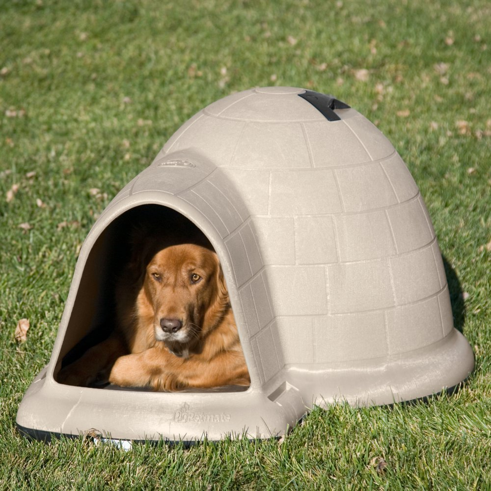 Primary image for Dog House Pet Puppy Shelter Bed Large Roof Igloo Microban Kennel All Weather
